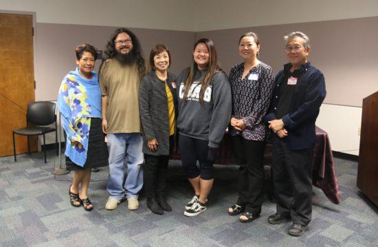 Pictured from left: Linda Maram, Jairus Ramos, Susan Oda Omori, Leah Ishii, Barbara Kim and Dean Toji.