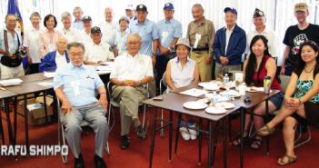 Japanese American Korean War Veterans at the Nisei Week Festival. (MARIO G. REYES/Rafu Shimpo)