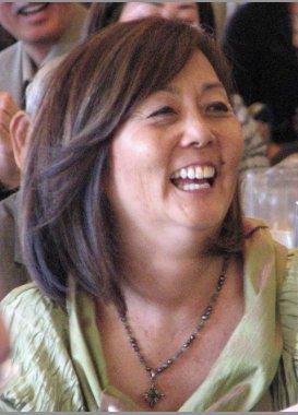 Margaret Shimada at Yasuko Sakamoto's retirement luncheon. (J.K. YAMAMOTO/Rafu Shimpo)