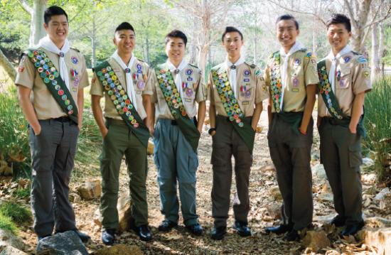 From left: Nathan Hoo, Kevin Sato, Jason Tekawa, Jason Yamashita, Spencer Kubo and Bradley Nishida.