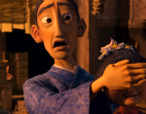"""Hosato, the character voiced by George Takei in """"Kubo and the Two Strings."""" Hosato is Takei's Japanese name."""