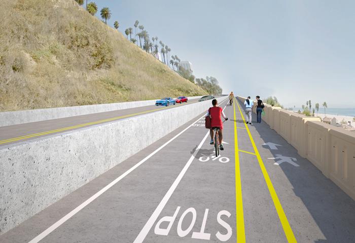 1日に開通したカリフォルニア・インクラインのグラフィック画像(サンタモニカ市より)