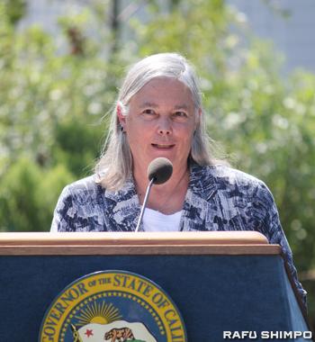 2030年までに加州の温室効果ガスを1990年比で40%削減を目指す法案「SB32」を提出したフラン・パブリー加州上院議員