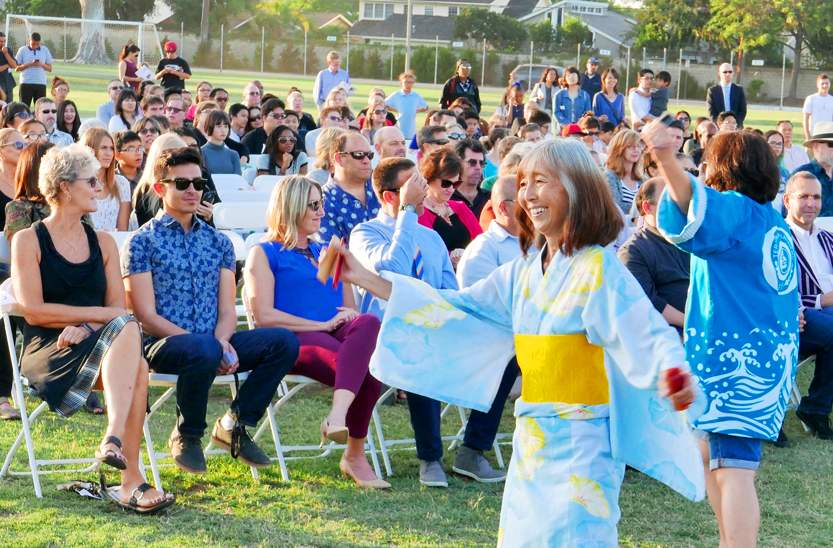 The program included Japanese festival dancing by Terminal Islanders. (Photo by Mark Savage)