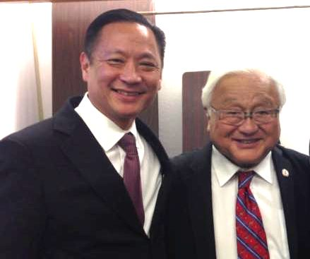 San Francisco Public Defender Jeff Adachi and Rep. Mike Honda.