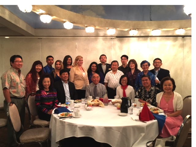 Nakanishi and his supporters met at Steven's Steakhouse in the City of Commerce. (Courtesy Roger Minami)
