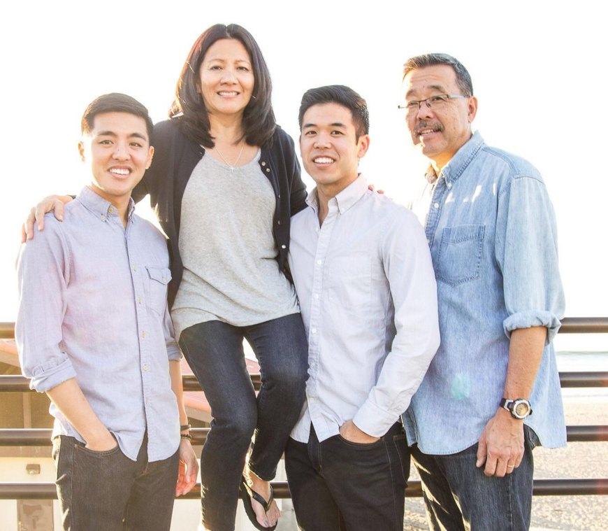 Panelist Karen Murakami and her family.