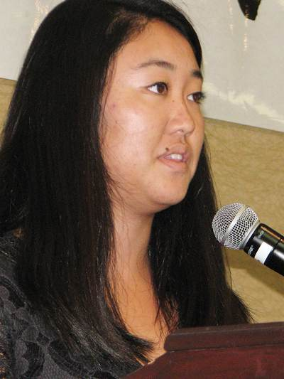Lindsay Masukawa spoke on behalf of this year's recipients.