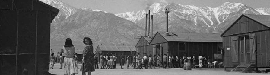 Manzanar Relocation Center, Inyo County. (Photo courtesy: Manzanar NHS/Katsumi Taniguchi)
