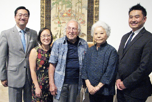 JACCC Board Chair George Tanaka, JACCC President/CEO Leslie Ito, Joe and Etsuko Price, and Nori Sakai of the Japan Business Association, one of the sponsors.