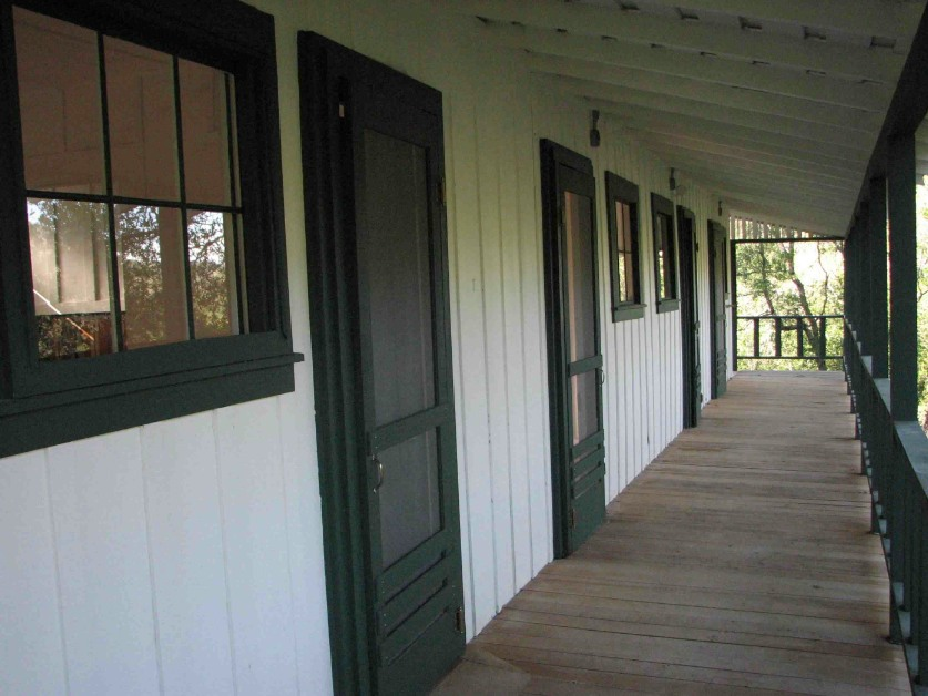 A cabin that has been restored to its original state.
