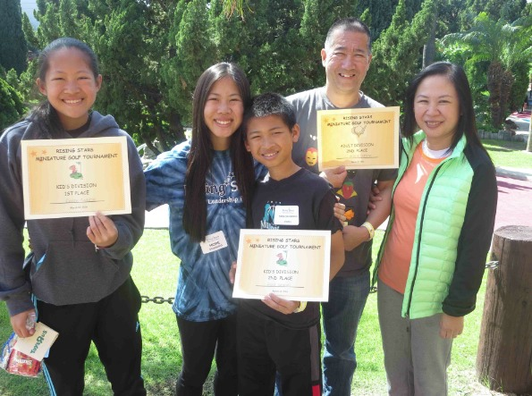 The Sadahiro family (from left): Grace Sadahiro, first place, Kids Division; Hope Sadahiro, RS 13 participant; Kana Sadahiro, second place, Kids Division; Joneyan Limpus, third place, kids division; Brodie Sadahiro, father, second place, Adult Division; Karen Sadahiro, mother.