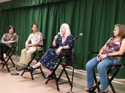 From left: Panelists Marsha Aizumi, Jason Takagi, Mia Yamamoto, Kimberlee Tellez.