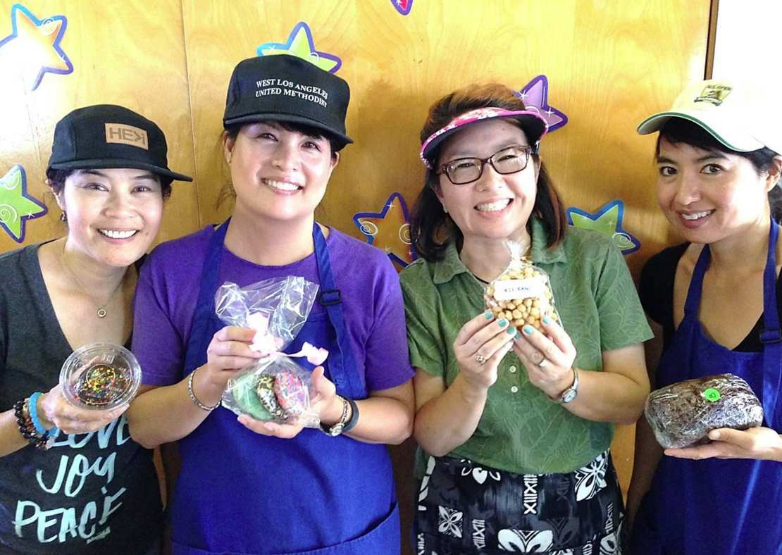 Bake sale volunteers at last year's Asian Cultural Bazaar.