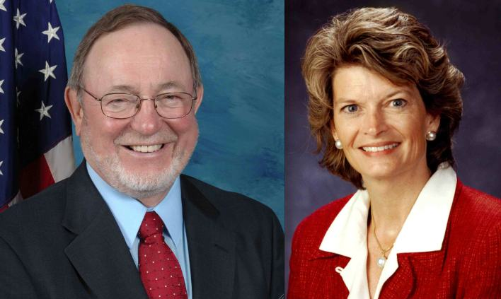 Rep. Don Young and Sen. Lisa Murkowski of Alaska