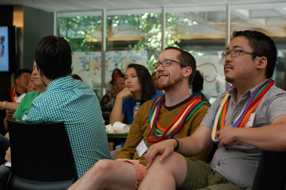 Participants in the Seattle API LGBTQ conference.