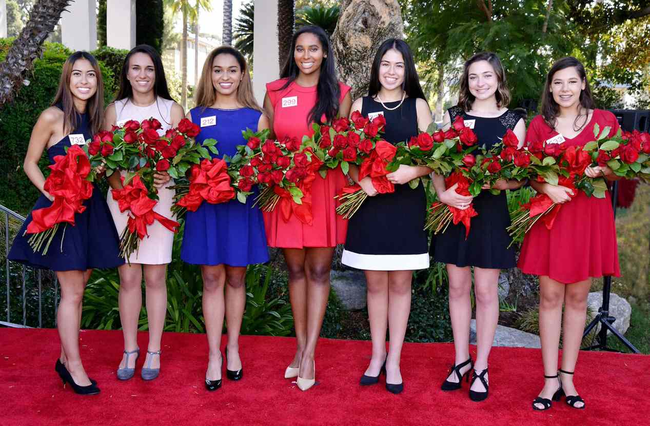 From left: Maya Kawaguchi Khan, Natalie Rose Petrosian, Autumn Marie Lundy, Shannon Tracy Larsuel, Lauren Emiko Powers, Audrey Mariam Cameron and Victoria Cecilia Castellanos.