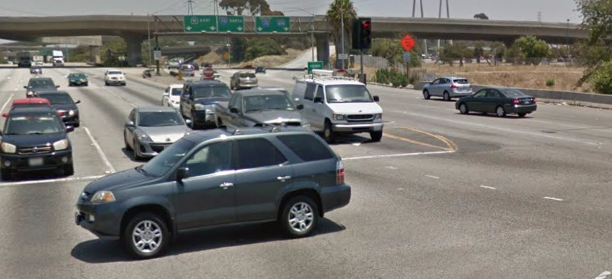 The busy intersection of Artesia and Vermont in Gardena. (Google Maps)