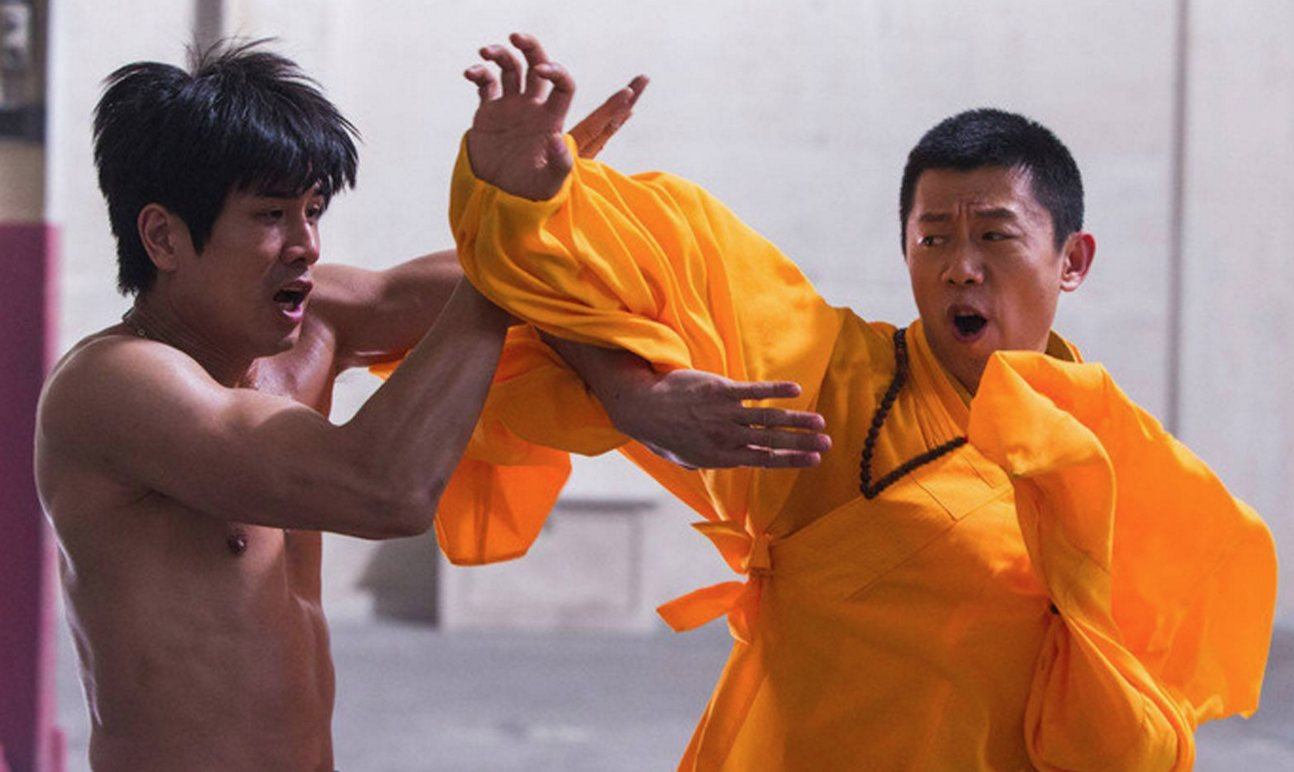 "Philip Ng as Bruce Lee and Yu Xia as Wong Jack Man in a scene from ""Birth of the Dragon."""