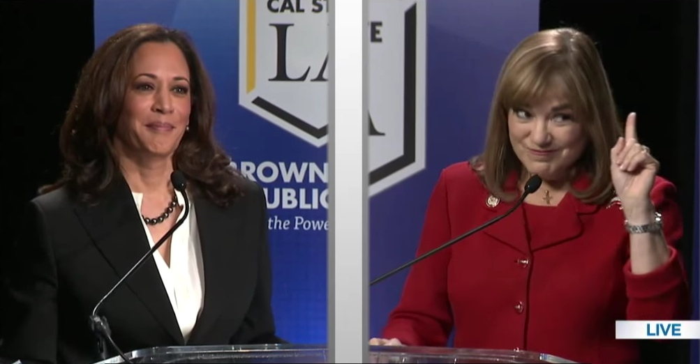 State Attorney General Kamala Harris and Rep. Loretta Sanchez held their first and only Senate candidates' debate on Oct. 5 at Cal State L.A.