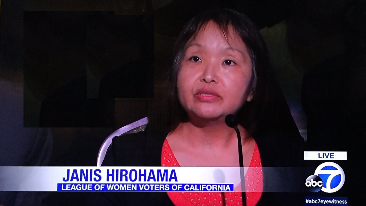 Janice Hirohama was a panelist in the Kamala Harris-Loretta Sanchez debate.