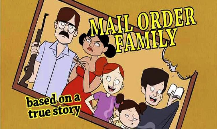 "Show card for planned NBC show ""Mail Order Family."""