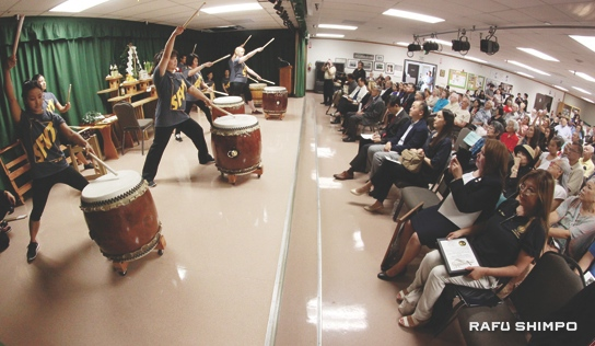 San Fernando Valley Taiko opened the program.