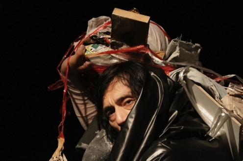 "Takao Kawaguchi in ""About Kazuo Ohno."" (Photo by Teijiro Kamiyama)"