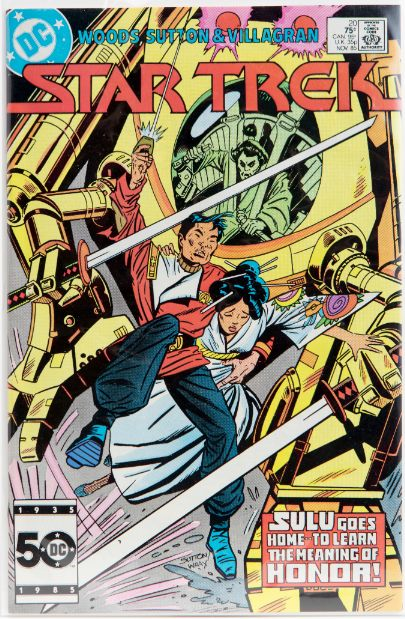 """Star Trek"" comic book, ""Sulu Goes Home to Learn the Meaning of Honor,"" November 1985. (Issue #20 of 56 in the series)"