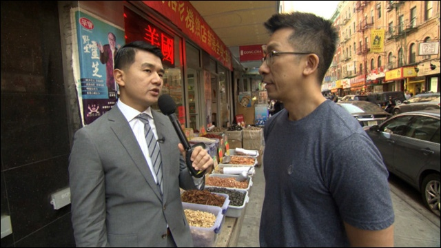 """The Daily Show's"" Ronny Chieng does a real interview in New York's Chinatown."