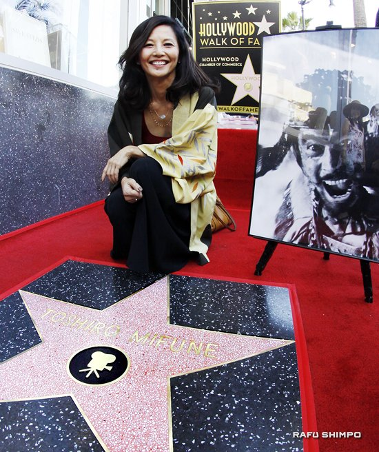 "Actress Tamlyn Tomita attended the ceremony. She and Toshiro Mifune appeared in Kayo Hatta's 1995 film ""Picture Bride."""
