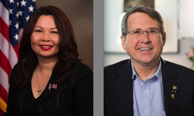 Rep. Tammy Duckworth (D-Ill.) and Sen. Mark Kirk (R-Ill.)