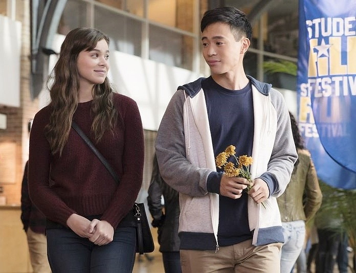 "Nadine (Hailee Steinfeld) and Erwin (Hayden Szeto) at a film festival in a scene from ""Edge of Seventeen."""
