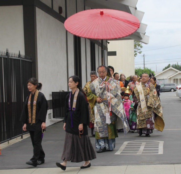 Chigo parade led by Bishop Kodo Umezu.