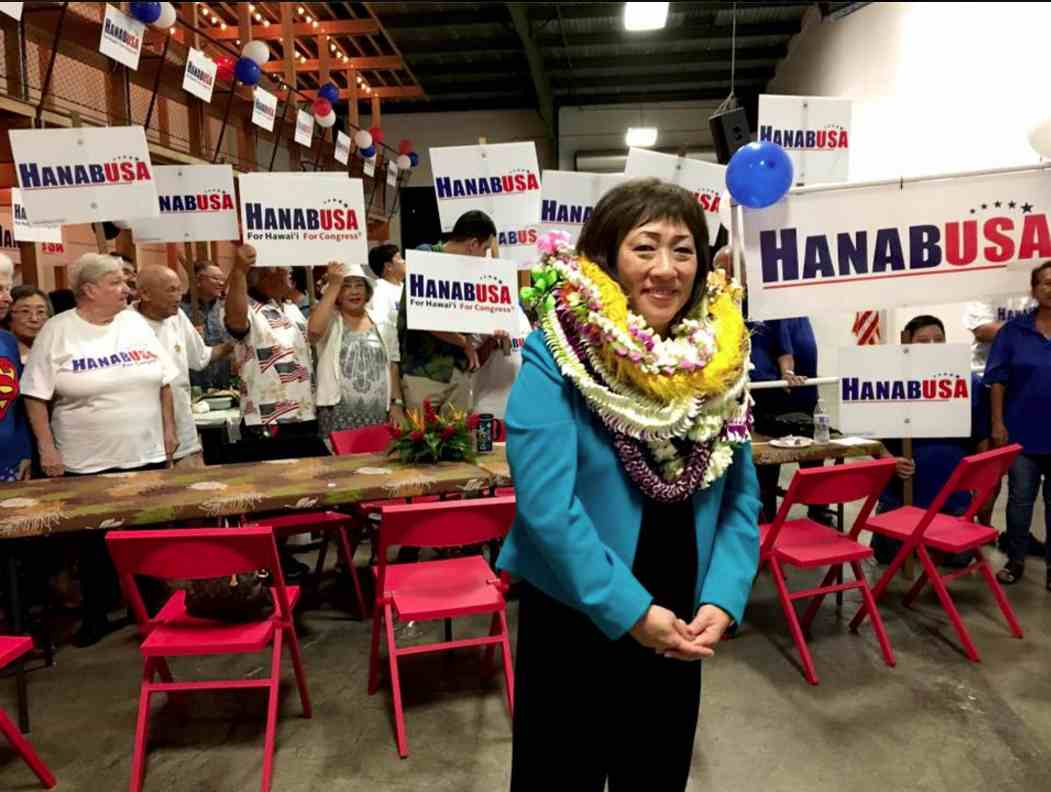 Former Rep. Colleen Hanabusa of Hawaii won two races to succeed the late Rep. Mark Takai.