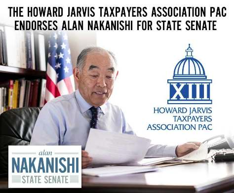 Mailer for State Senate candidate Alan Nakanishi of Lodi.