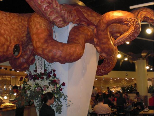 The new restaurant features an octopus design.