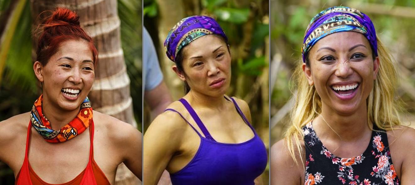 "Mari Takahashi, Luci Huang and Rachel Ako of CBS' ""Survivor."""