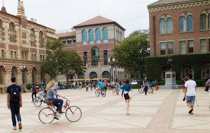 教授刺殺事件が発生したUSCのキャンパス