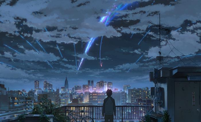 映画「君の名は。」の一場面(Funimation Films)