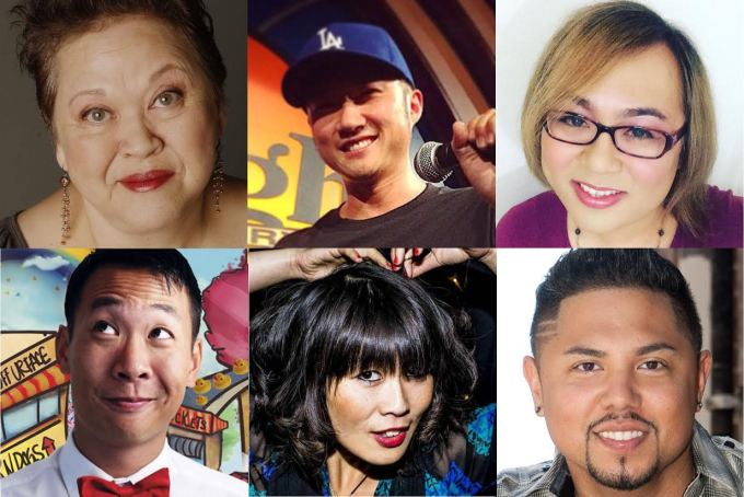 Clockwise from top left: Amy Hill, Paul Kim, Robin Tran, Joey Guila, Atsuko Okatsuka, Kevin Yee.