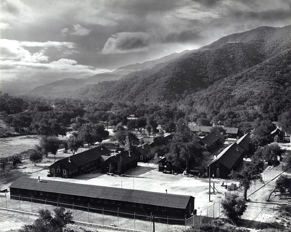 Aerial view of the Tuna Canyon Detention Station. (Courtesy of the Merrill H. Scott family)