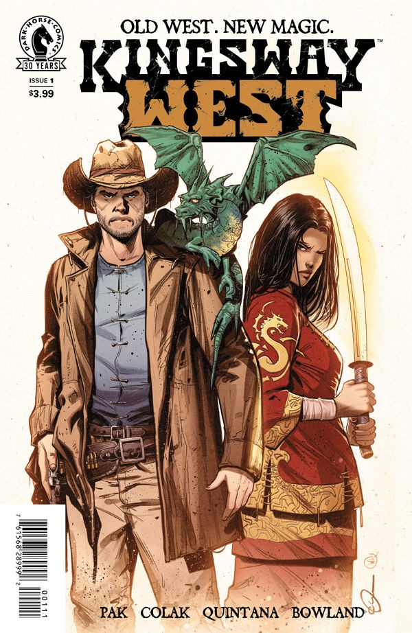 "Cover of the first issue of ""Kingsway West"" by Greg Pak."