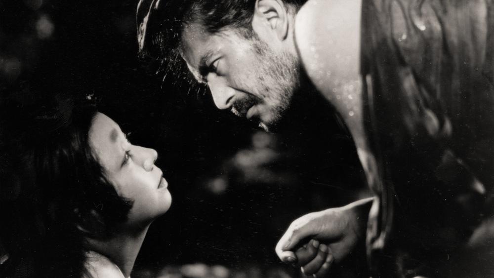 """Toshiro Mifune and Machiko Kyo in a scene from Akira Kurosawa's """"Rashomon."""""""