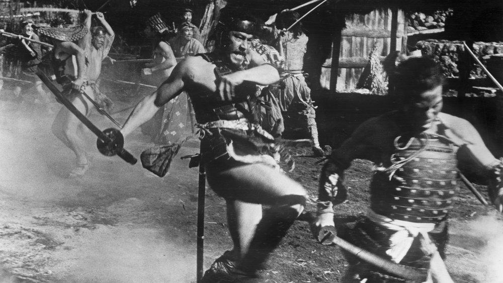 "Toshiro Mifune in a scene from Akira Kurosawa's ""Seven Samurai."""