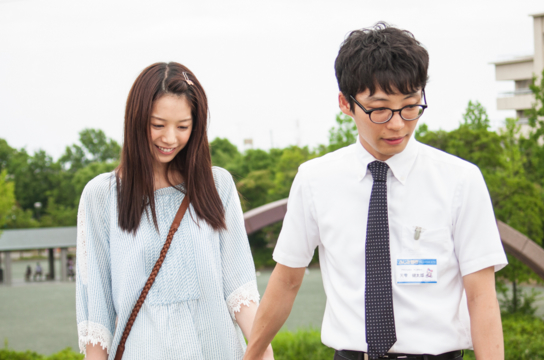 "Kaho and Gen Hoshino in a scene from ""Blindly in Love."""
