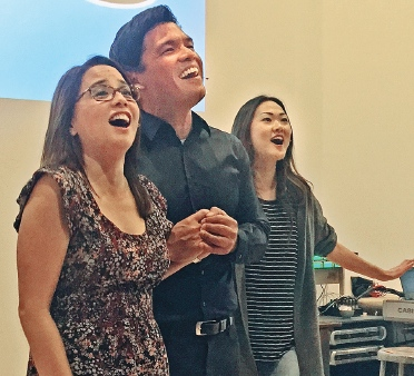 Helen Ota, Michael Palma and Jully Lee sing in the big finale.