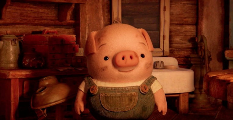 "Pig in a scene from ""The Dam Keeper."""