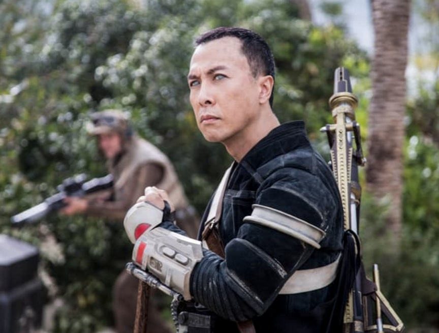 """Donnie Yen plays Chirrut Imwe in """"Rogue One: A Star Wars Story,"""" which opens Friday."""