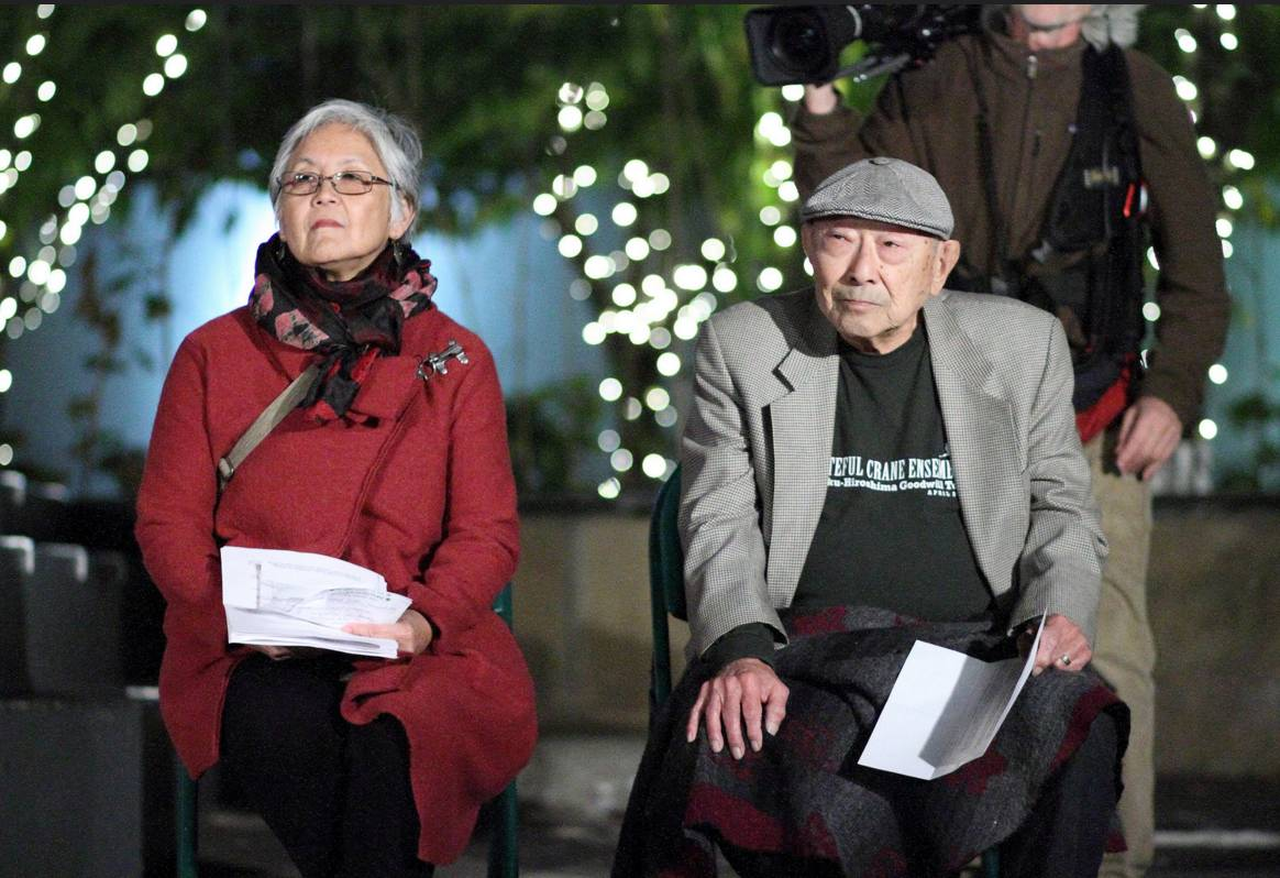 Poet Hiroshi Kashiwagi and filmmaker Satsuki Ina were among the speakers. Kashiwagi was incarcerated at Tule Lake after graduating from high school and Ina was born there.